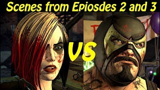 End of Episode 2 and Begining of Episode 3: Harley vs Bane - Batman The Enemy Within