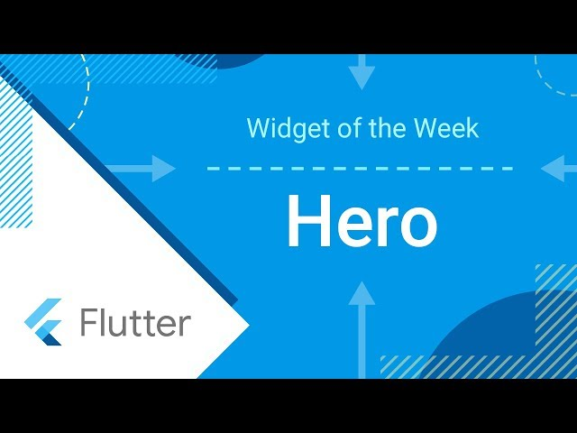 Hero (Flutter Widget of the Week)
