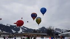 Ballons festival à Chateau d'Oex 2020. Фестиваль воздушных шаров 28.01.20
