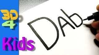 Draw words into cartoons for Kids very Easy!! Dab #9
