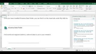 Download Economic Data using Excel
