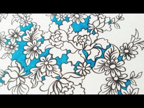 Belajar Menggambar Ragam Bunga Batik Youtube