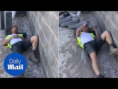 Sleeping builder is woken by concrete slab hitting his head - Daily Mail
