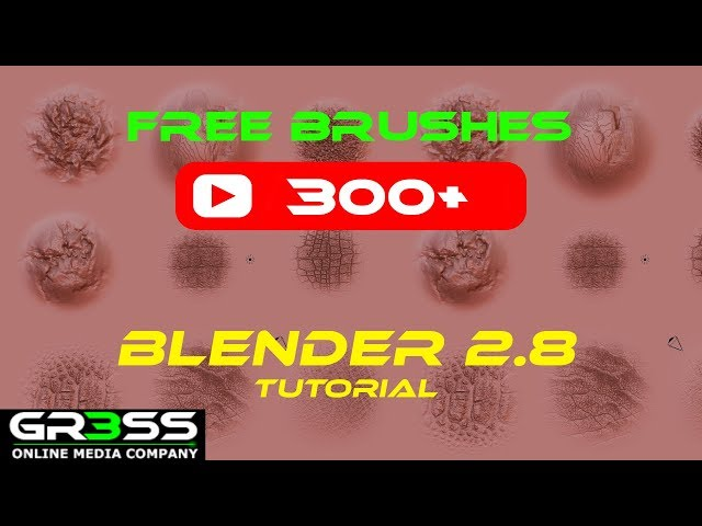 Blender Tutorial & Free Brushes Download