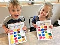 Preschool Primary Colors Mixing Secondary Colors with Paint Art Lesson