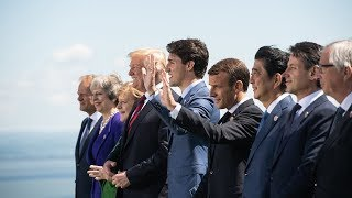 Family photo at the 2018 G7 Summit