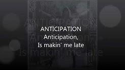 Anticipation- Carly Simon (Lyrics Video)