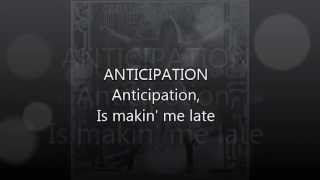Anticipation- Carly Simon (Lyrics Video) thumbnail
