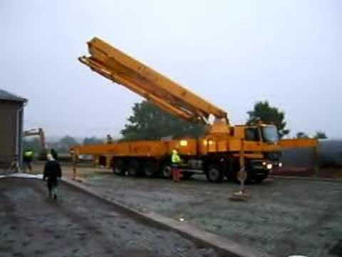 Pompe a beton 52 metres youtube - Pompe a teton ...