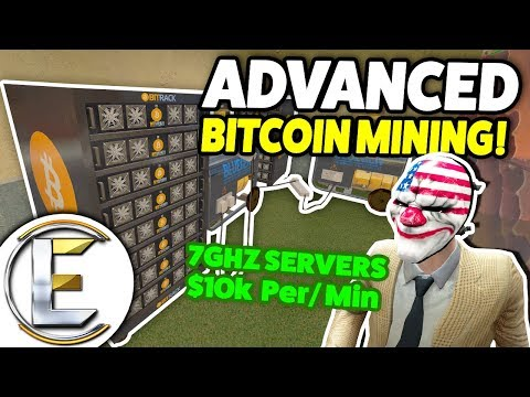 ADVANCED BITCOIN MINING! - Gmod DarkRP Life (Base Building,
