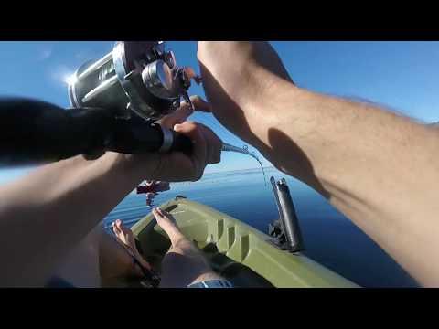 Kayak fishing in Malibu + dry storage installation