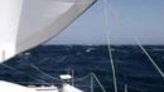 Catamaran Sailing in 40 knots - Red Sea