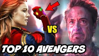 TOP 10 Avengers According to Popularity & Fans Explained after Avengers Endgame