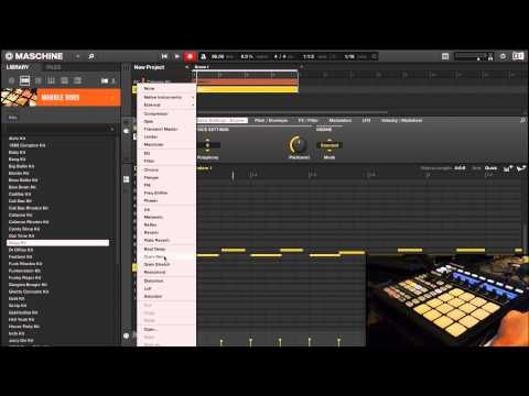 Maschine MKII beat 101 tutorial (how to make a simple beat)