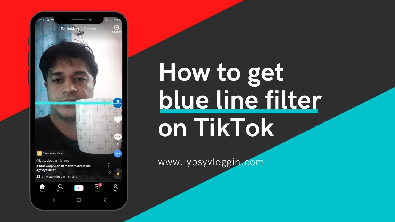 How To Get Blue Line Filter On Tiktok Youtube