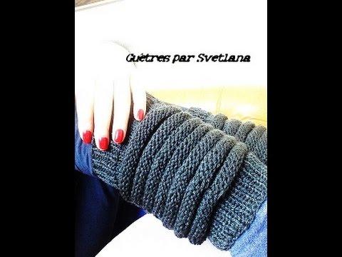 Bien connu Guêtres ou jambières tutoriel tricot/Tutorial knit gaiters  UT63