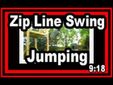 Backyard Zip Line Swing Jumping   Wisconsin Garden Video Blog 48.wmv