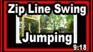 Backyard Zip Line Swing Jumping - Wisconsin Garden Video Blog 48.wmv