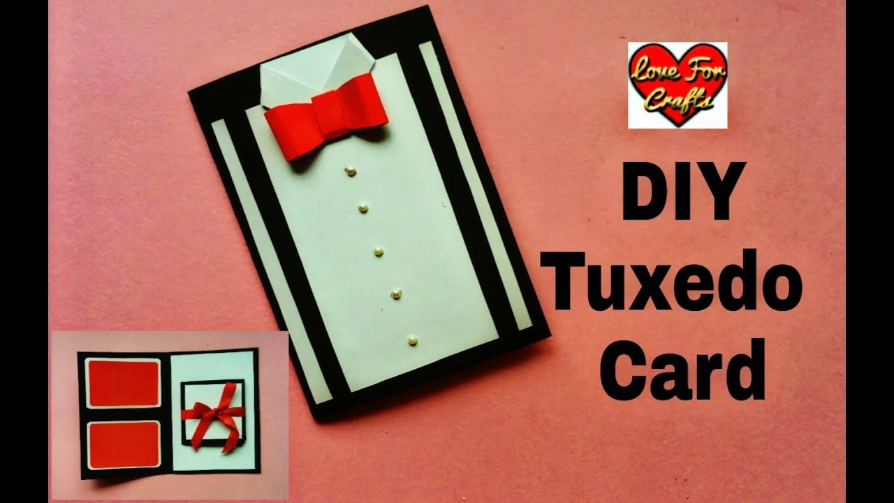 DIY Suit Tuxedo Greeting Card Tutorial