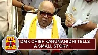 Karunanidhi tells a Small Story to Respond Jayalalithaa's Short Story spl tamil video hot news 11-02-2016