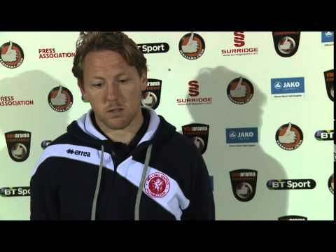 WingsTV Freeview Jamie Day talking after Welling United vs Lincoln City