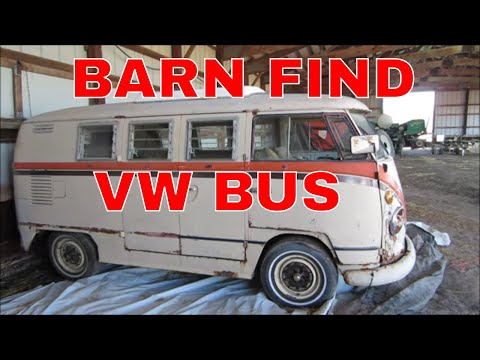 Buying a split window Bus from a Barn in upstate New York.