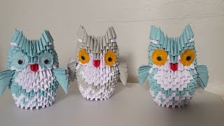 How to make 3d origami owl (medium)
