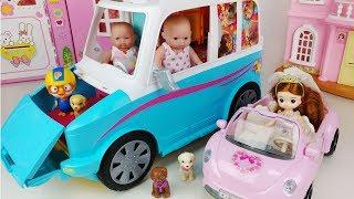 Baby Doll and Puppy camping car pororo toy play 아기인형 과 리틀미미 강아지 캠핑카 뽀로로 장난감 놀이 thumbnail