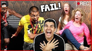 Funniest Haunted House Reactions! (CAUGHT ON CAMERA)