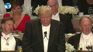 Trump and Hillary attend Alfred E. Smith Memorial Foundation Dinner