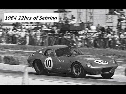 1964 12hrs of Sebring - GT winners Dave MacDonald & Bob Holbert in Shelby Daytona Coupe CSX2287