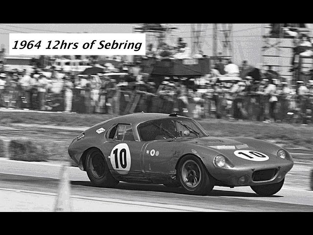 1964 12hrs of Sebring - GT winners Dave MacDonald & Bob Holbert in Shelby Daytona Coupe CSX2287