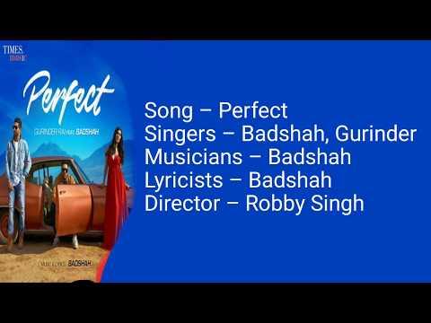 Perfect Lyrics | Gurinder Rai ft. Badshah | Latest punjabi song 2018 | Perfect full song Lyrics