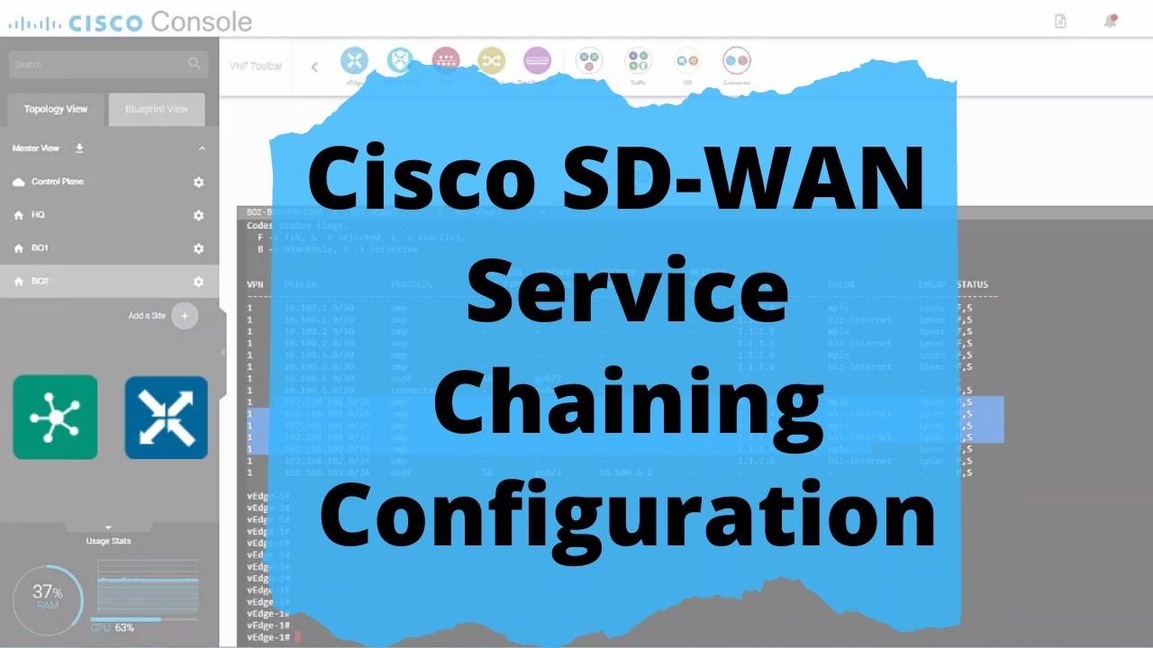 Cisco Sd Wan Lab Viptela Service Chaining Insertion Configuration Hindi Youtube