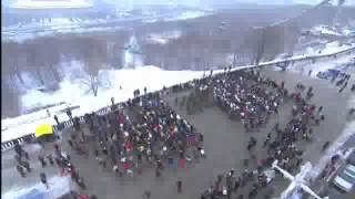 """Puttin'on the Ritz"" sur danse flash mob, subtilement devenu:""Putin molodets""(Poutine chic type)-:)"