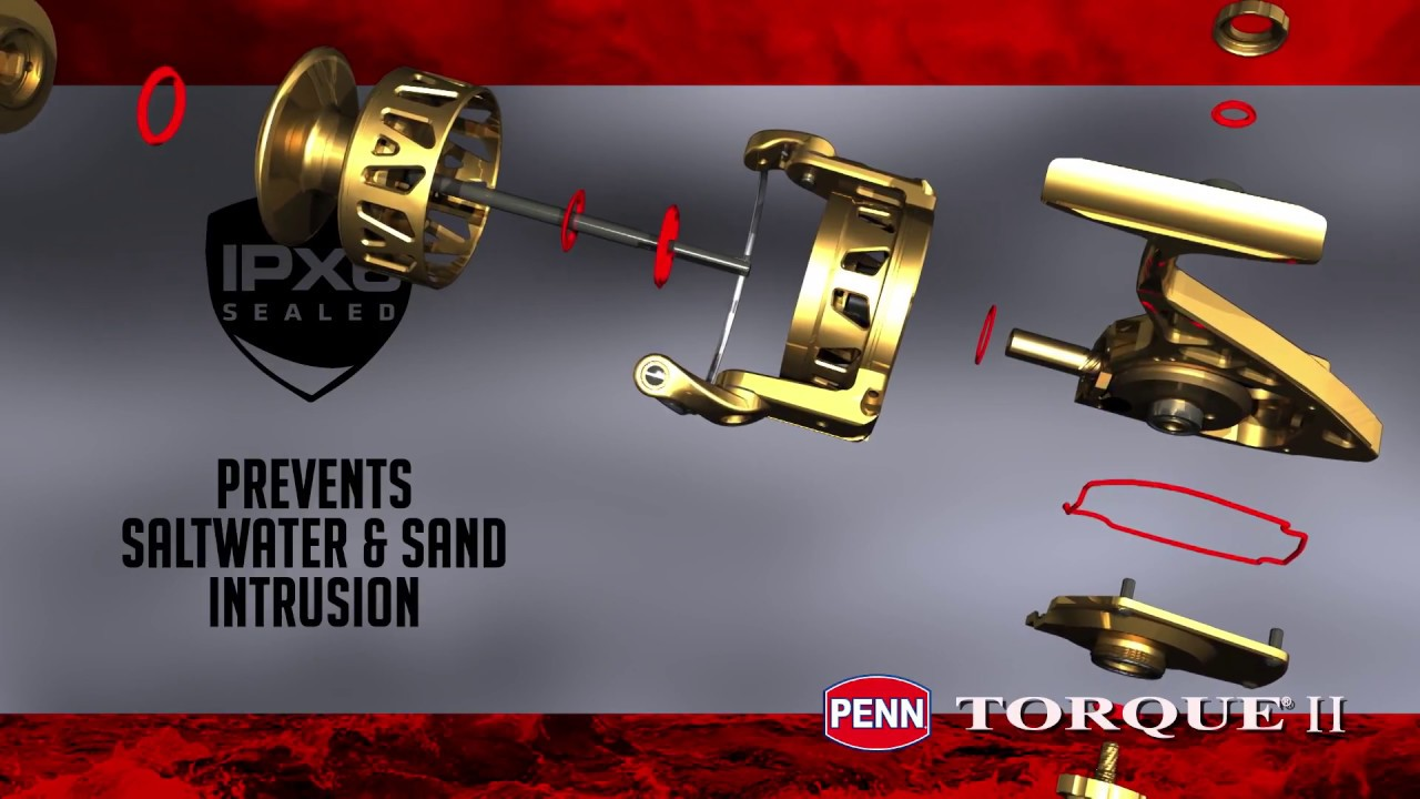c1f676e7c1c06 PENN Torque II Spinning Reel- PX6 Seals - YouTube