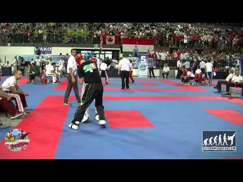 Zsolt Bartok (HUN) v Felix Hawksworth (IRL) Junior WAKO World Championships 2014