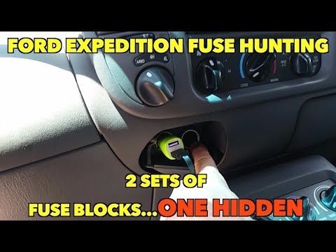 Ford Expedition Fuse Hunting...2 sets of fuse Blocks...One Hidden.