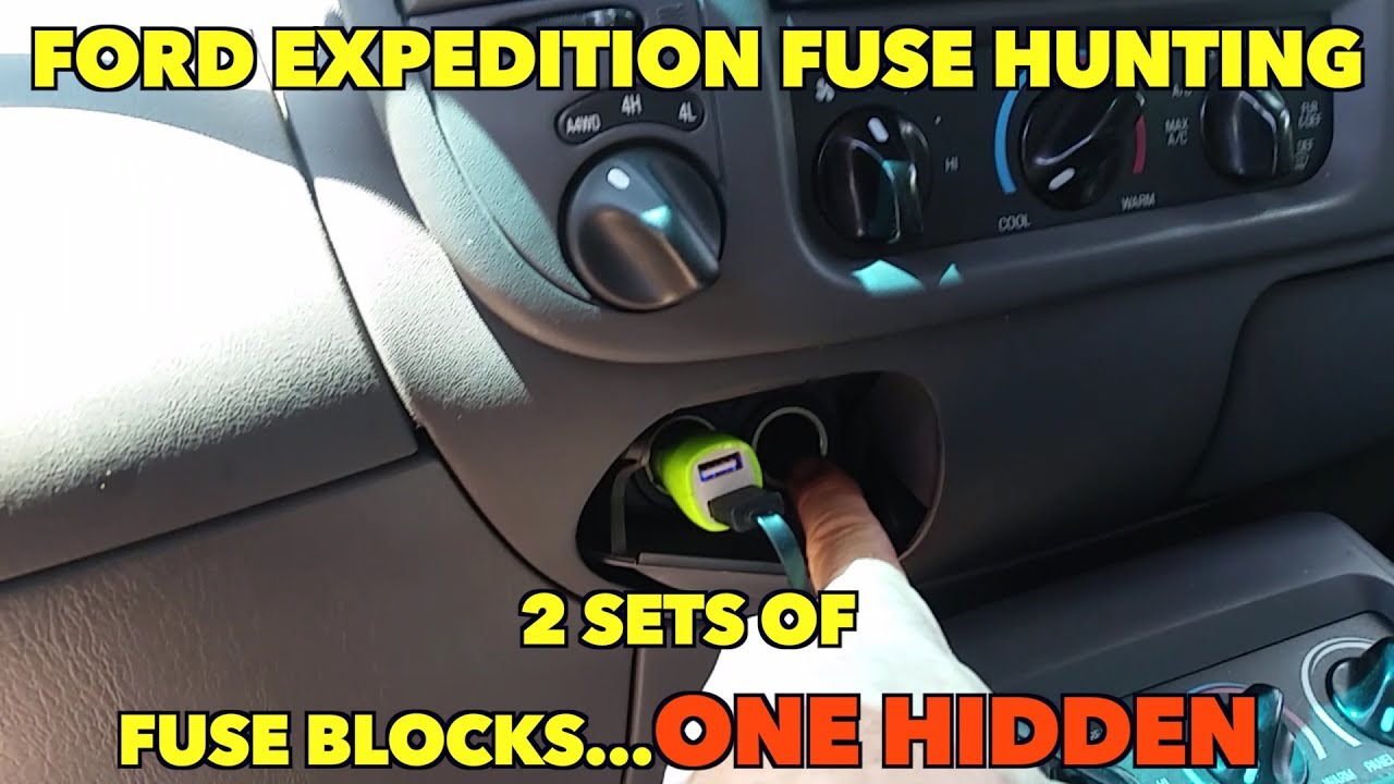ford expedition fuse hunting   2 sets of fuse blocks   one hidden