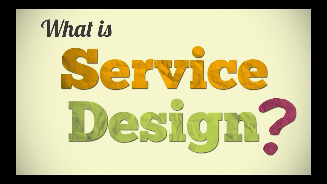 What is service design youtube for Product service design