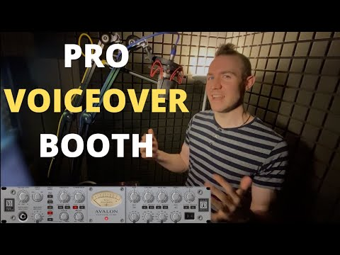 Pro Voiceover Recording Booth - Jordan Reynolds Voice Actor