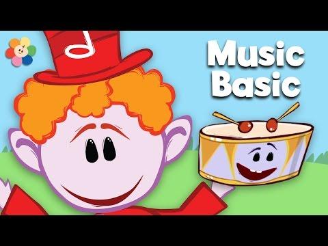 Drum | Learn Rhythm Fast & Slow | Notekins | BabyFirst TV
