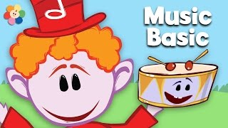 Drum | Learn Rhythm Fast & Slow | Notekins | BabyFirst TV