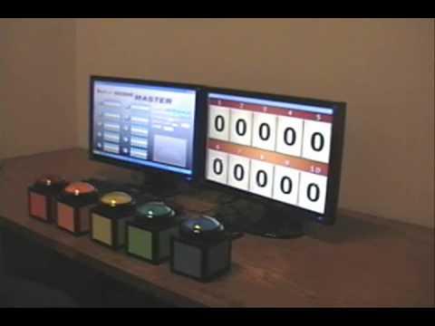 DigiGames Wireless Buzzer Trivia Quiz TM-120 with ScoreMaster