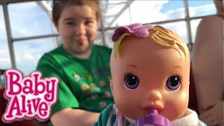 Baby Alive Kicks n Cuddles Newborn Doll Outing to a Ferris Wheel