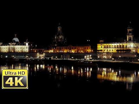 Dresden bei Nacht / Amazing 4k video ultra hd FZ1000 Travel Video