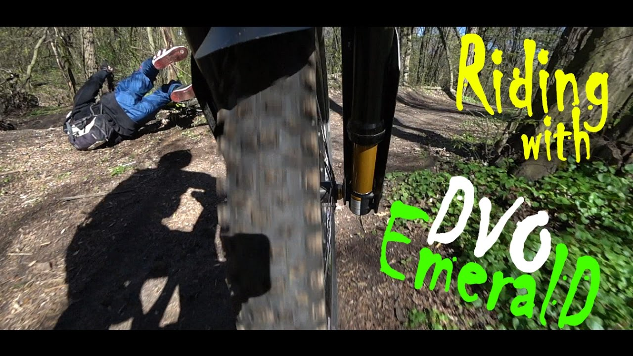 DVO Emerald in action, best downhill fork training on city park mtb trails   From rider to riders