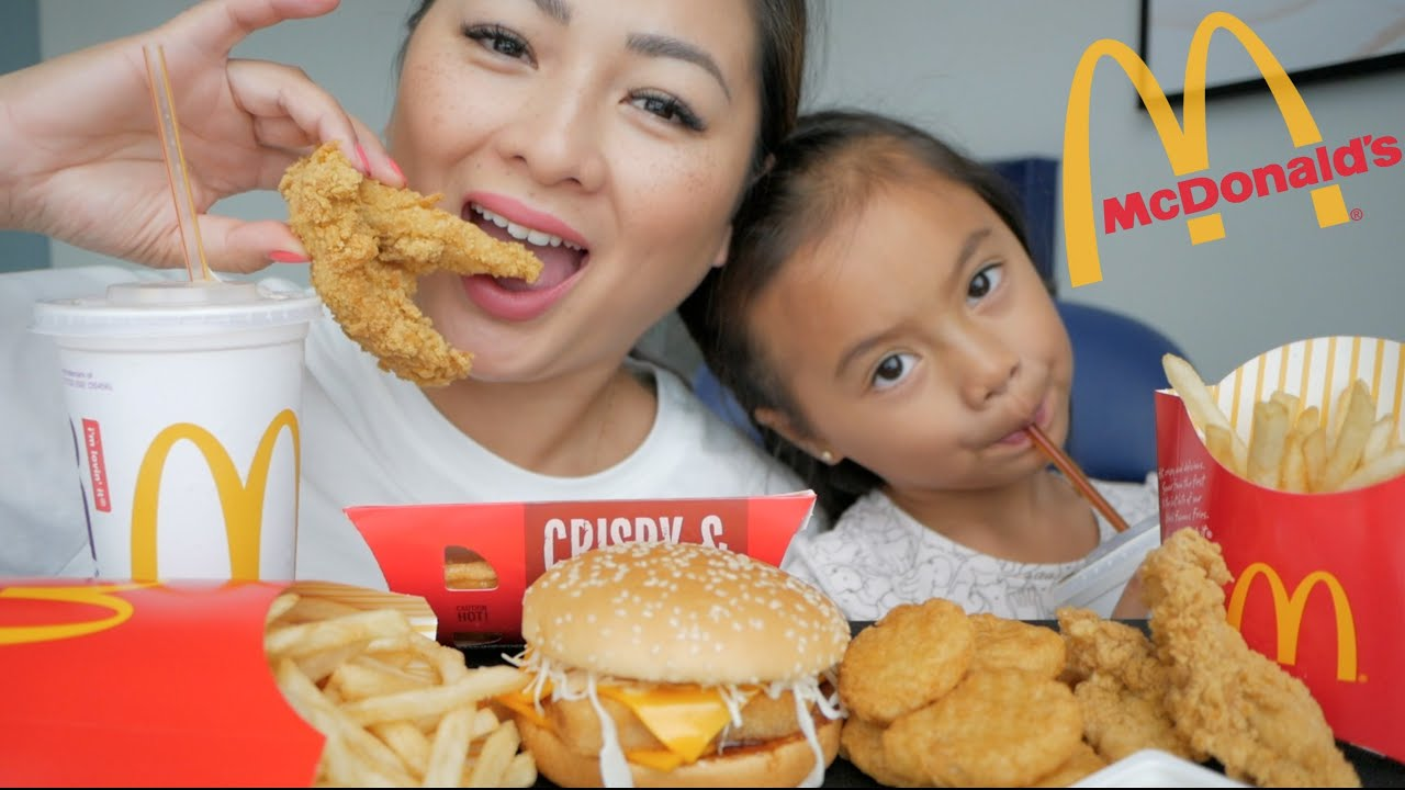 McDonald's Thailand Mukbang!  | N.E Let's Eat