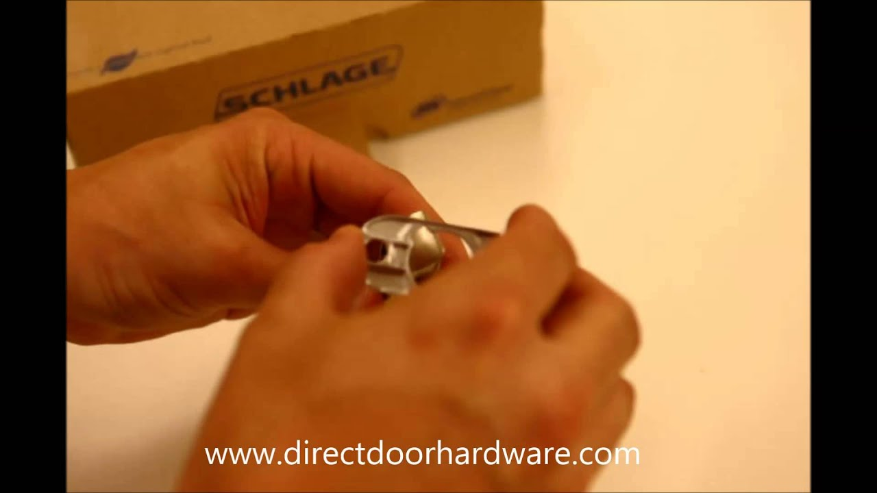 Adjusting A Schlage Residential Door Knob Latch Youtube