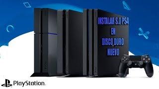 INSTALAR SISTEMA OPERATIVO EN DISCO DURO NUEVO PS4